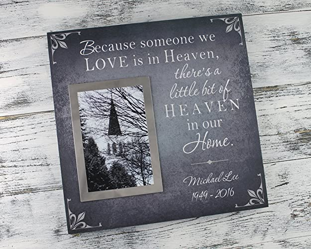Bereavement gift ideas, sympathy gift, Personalized memorial gift, photo frame, sympathy gift, bereavement picture frame, Because someone we love is in ...