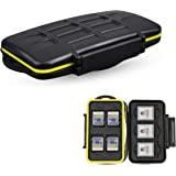 JJC Deluxe 7 Slots XQD Cfexpress Type-B SD SDXC SDHC Memory Card Case Carrying Storage Holder for 3 XQD / Cfexpress Type-B an