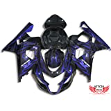 VITCIK Fairing Kits Fit for Suzuki GSX-R750 GSX-R600 K4 2004 2005 GSXR 600 750 K4 04 05 Plastic ABS Injection Mold Complete Motorcycle Body Aftermarket Bodywork Frame (Blue & Black) A093