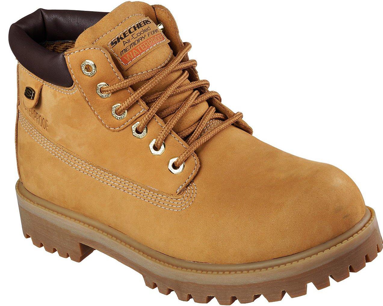 Skechers Mens Sergeants - Verdict Rain Boot, Wheat, Size 10