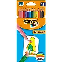 BIC Kids Tropicolors - Caja de 12 unidades, lápices de colores surtidos
