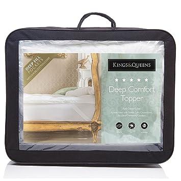 Fine ropa de cama Company Kings & Queens hipoalergénico Deep Comfort Topper/colchón Enhancer –