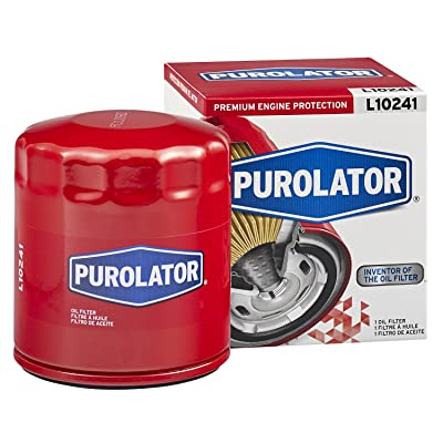 Purolator L10241 Red Single Premium Engine Protection Spin On Oil Filter: Automotive