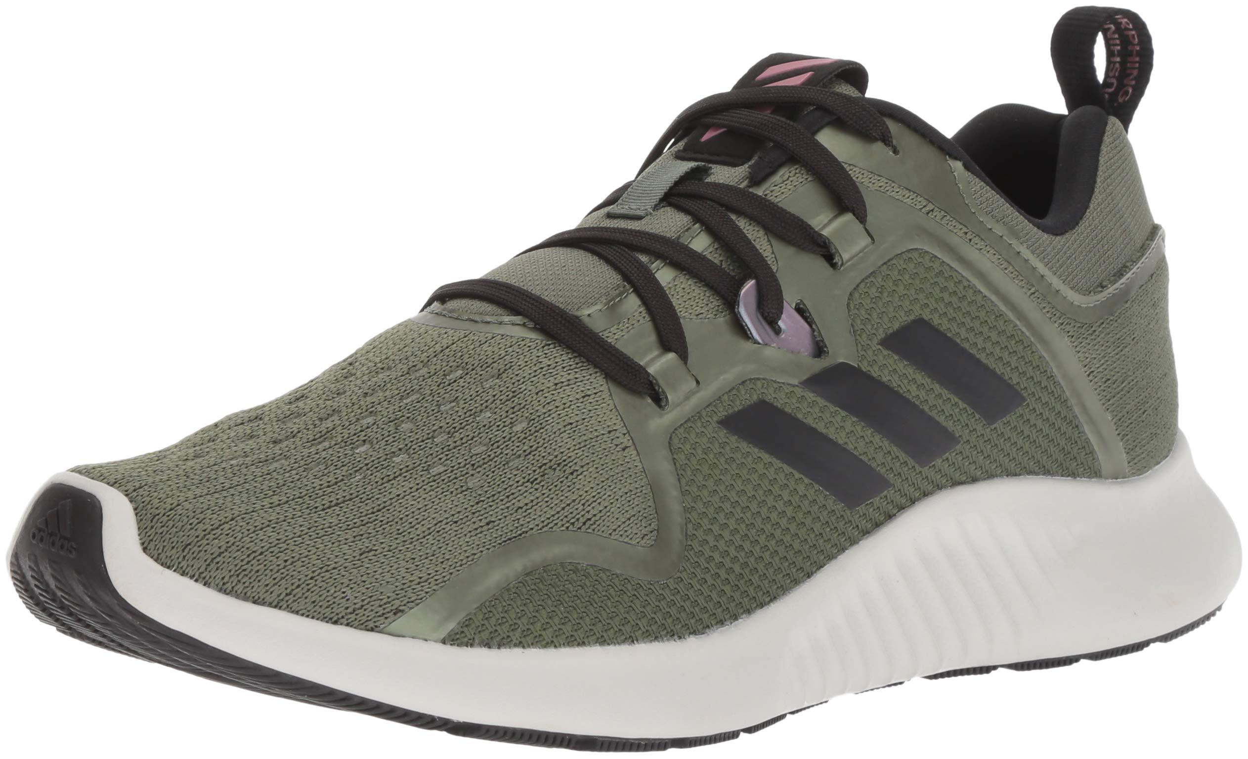 adidas Women's EdgeBounce Running Shoe Base Green/Black/Trace Maroon 5 M US