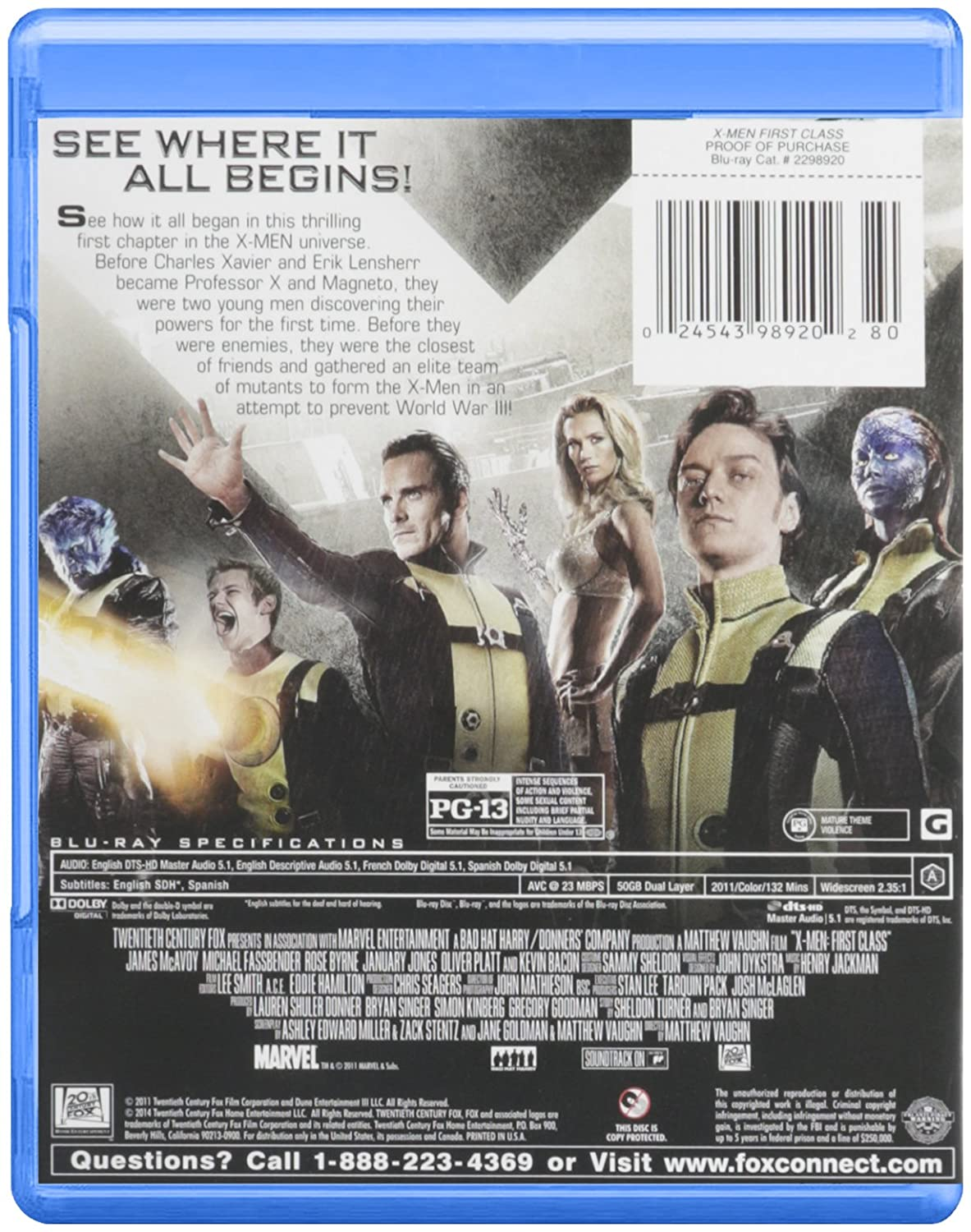 amazon com x men first class blu ray kevin bacon james