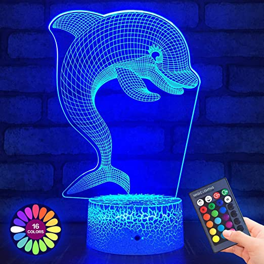 Menzee Butterfly Lamp 3D Night Lights Birthday Gifts for Girls
