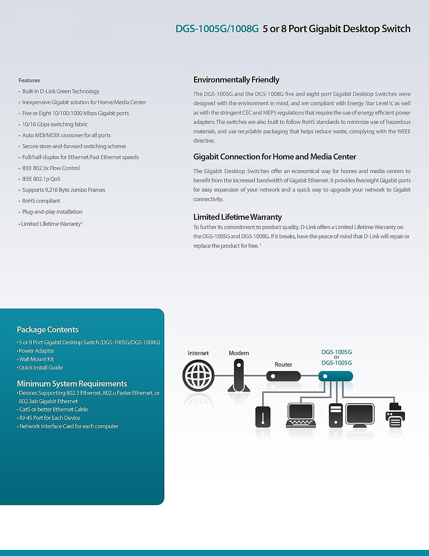 new dgs g gigabit desktop switch amazoncouk computers amp accessories: decor uk accslx x