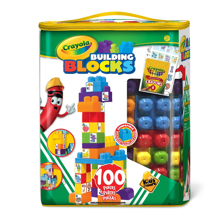 Crayola 100 Count Building Blocks, Boy