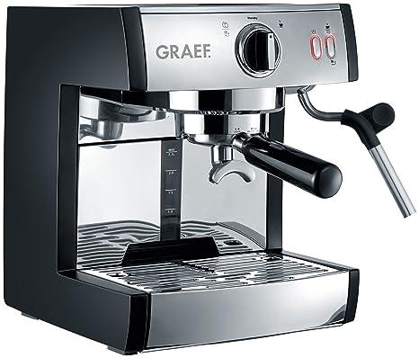 Graef ES702EU01 Siebträger-máquina de café Express, Rostfreier Stahl,