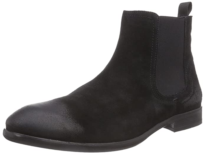 Mens H by Hudson Entwhistle Formal Smart Work Office Suede Chelsea Boots