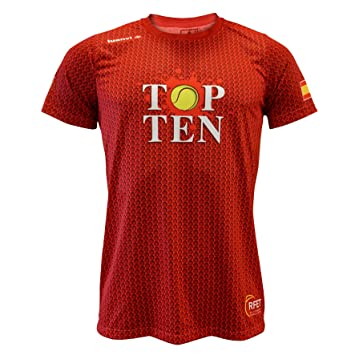 Luanvi Edición Limitada Camiseta técnica Top Ten, Hombre, Rojo, L (52-70cm): Amazon.es: Deportes y aire libre