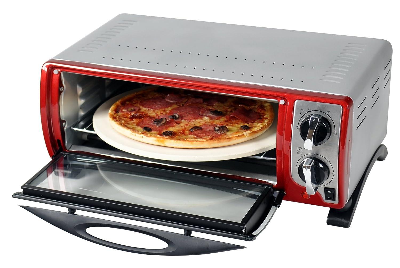 Efbe-Schott SC Gourmet et four à pizza avec pierre à pizza 30 cm. 000 Silber Kalorik SC MBO 1000