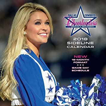 Amazon 2018 Dallas Cowboy Cheerleaders Wall Calendar Beauty