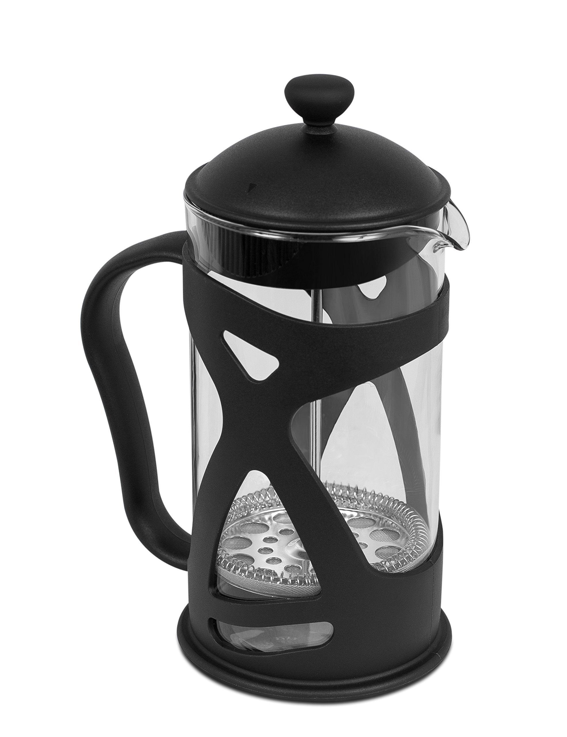 Internet's Best French Press | 1 Liter | 34 Oz | Coffee Maker Glass Body | Black