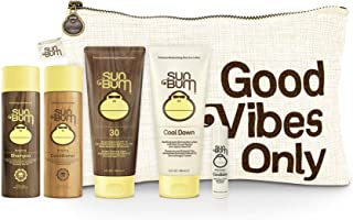 product image for Sun Bum Travel Tripper Travel Kit | On-The-go TSA Approved Sun and Hair Bundle with SPF 30 Sunscreen Lotion | Shampoo | Conditioner | Aloe | Lip Balm | Zipper Bag