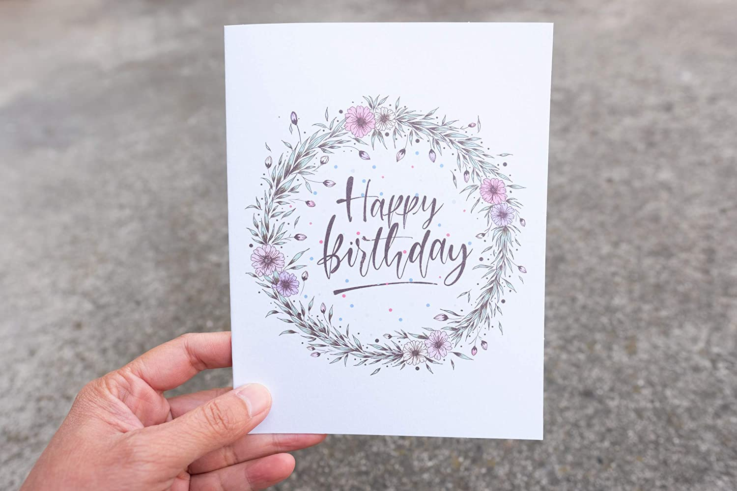 Amazon.com: Happy Birthday Greeting Card, Cute Card for Her