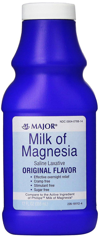 Amazon.com: Major Milk of Magnesia 12 FL OZ *Compare to Phillips Milk of Magnesia*: Health & Personal Care