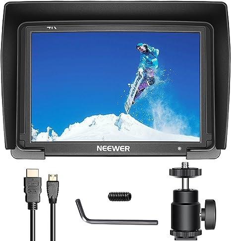Neewer Monitor de Campo 7 Pulgadas para cámara 1080p soporta 4 K ...
