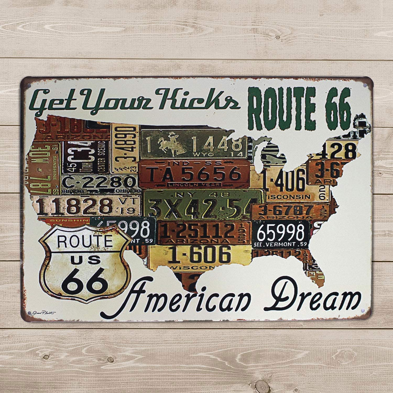 AMERICAN DREAM LARGE METAL TIN SIGN POSTER