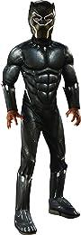 Rubie's Costume Deluxe Black Panther Child's Costume, Grey, Medium