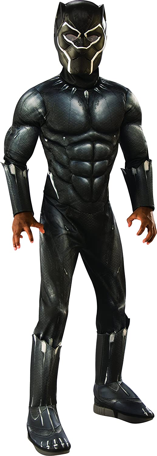 Rubie's Costume Deluxe Black Panther Child's Costume, Grey, Medium