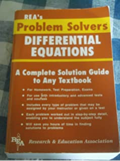 rea s problem solver physics a complete solution guide to any differential equations problem solver a complete solution guide to any textbook 2000 edition