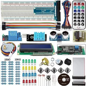 Smraza para Arduino UNO Starter Kit con tutoriales Compatible con Arduino UNO R3, Mega2560 y Nano (): Amazon.es: Electrónica