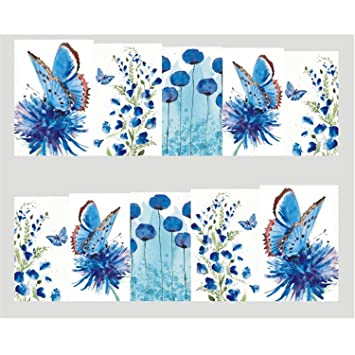 5ab3718ee4bb0 Amazon.com: Desirca 1Pcs Summer Nail Art Water Transfer Sticker Decals  Wraps Tattoo Bee Sliders For Nail Bee Manicure Decoration Stz611: Beauty