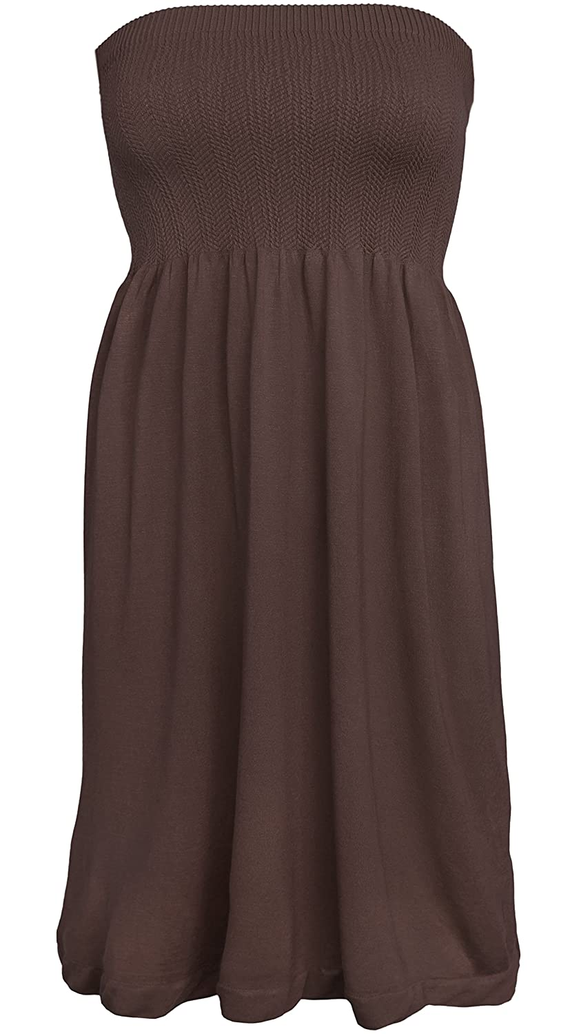 2211df6e4fe Casual Lounge Strapless Fit   Flare Smocking Pull On Tube Dress Knee Length  - Approximately 27.5 inch long unstretched. Top - 21 inch in circumference  ...
