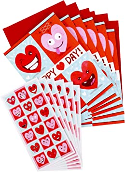 21 Hearts on Sheet Hallmark Sparkle HEART Red /& Pink Stickers in Package