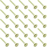 Clipco Paper Fasteners Large 1-Inch Brass Plated (100-Pack)