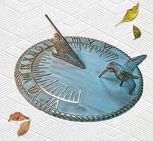 Brass Decorative Hummingbird Sundial 10