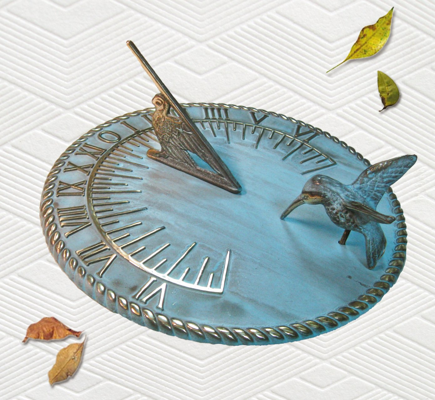 Brass Decorative Hummingbird Sundial 10 Inches Wide Taiwan TB217