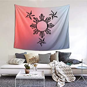 Decorative Sun Filipino Blanket 60 X 51 Inches Wall Blanket Tapestry Indoor Tapestries