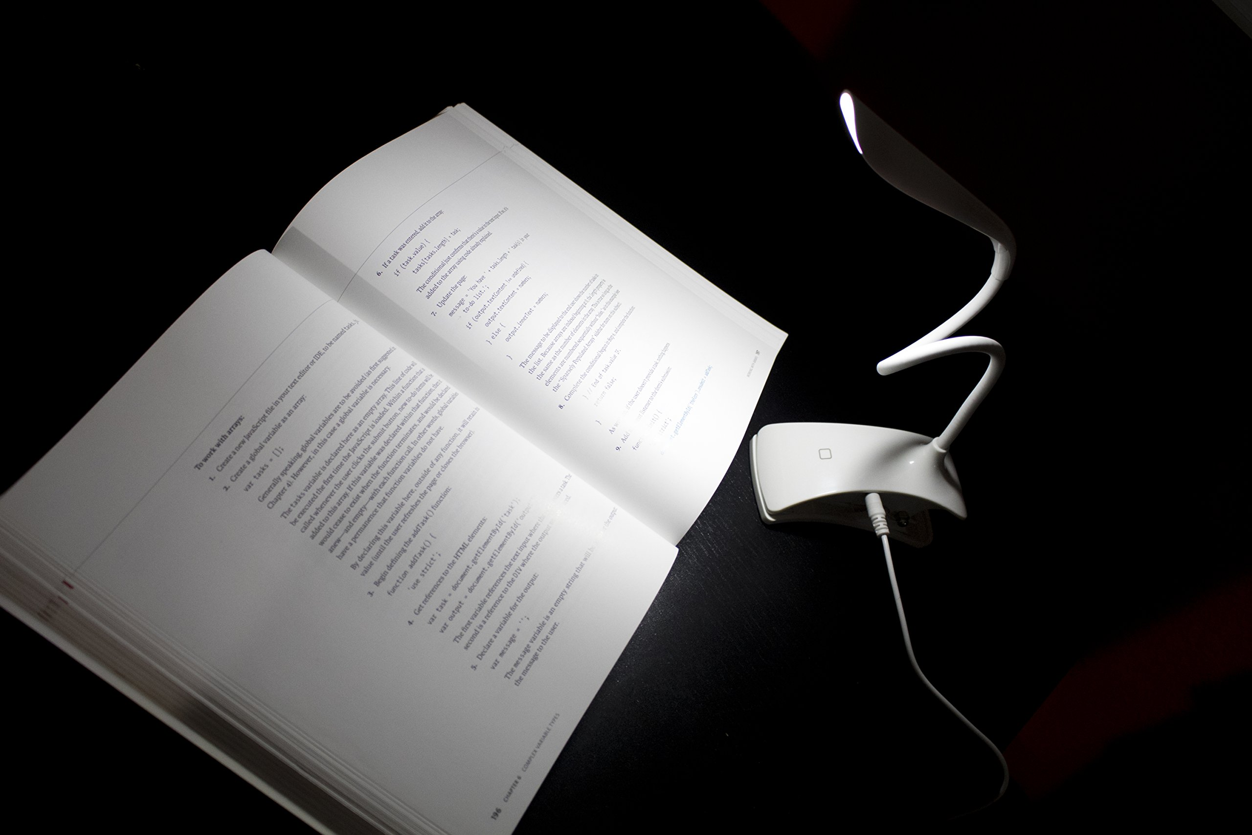 Clip-on Book Light Reading Lamp, Portable Table Light, Adjustable Led Clip Light, Anti Glare Reading Light, USB Rechargeable Computer Desk Lamp, White Daylight Bed Light. by Tesoro Wholesale™ (Image #5)
