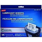Staples Shredder Lubricant Lubricating Sheets 24/pk