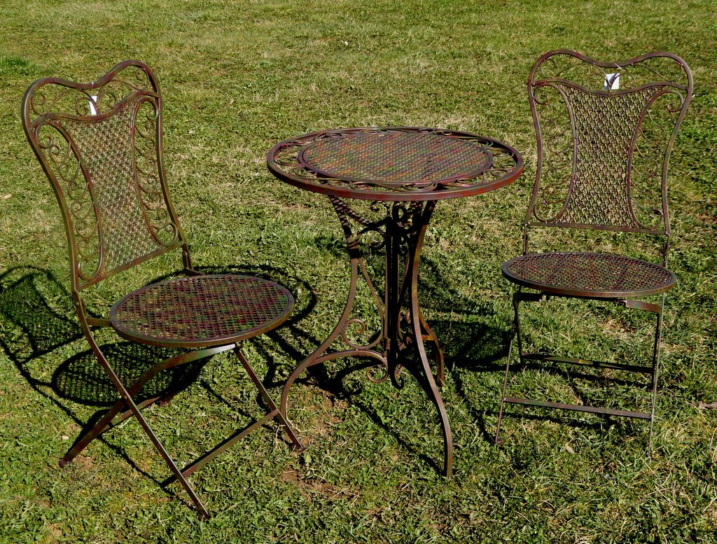 Exklusive Sitzgruppe Eliza Gartentisch Mit 2 Stühlen