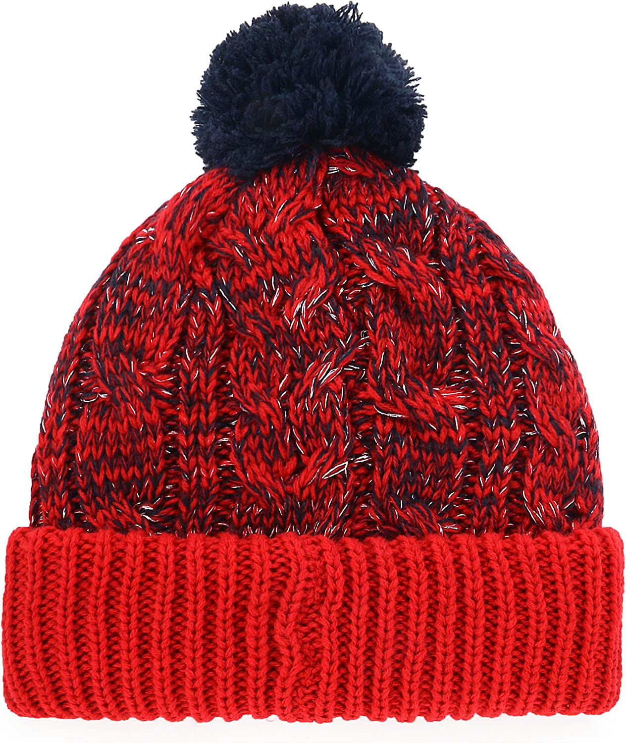 OTS Womens Brilyn Cuff Knit Cap with Pom