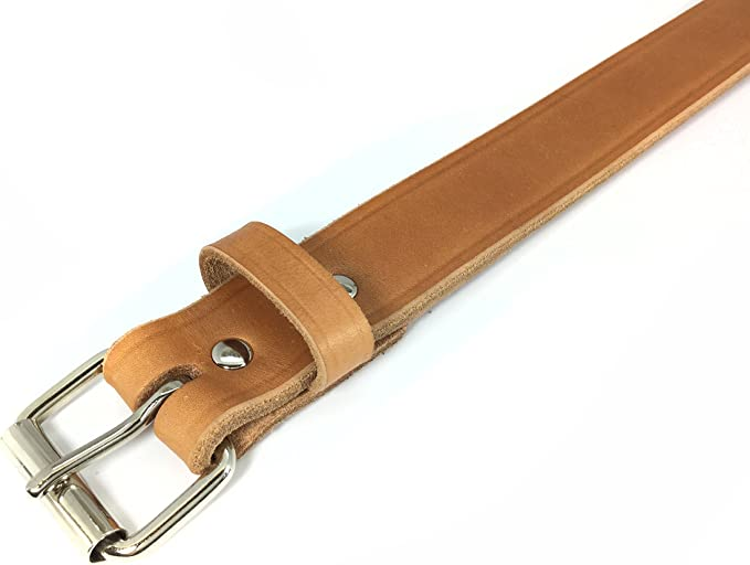 "1 1//2/"" Buffalo Herd American Natural Bull Hide Full Leather Smooth Gun Belt"
