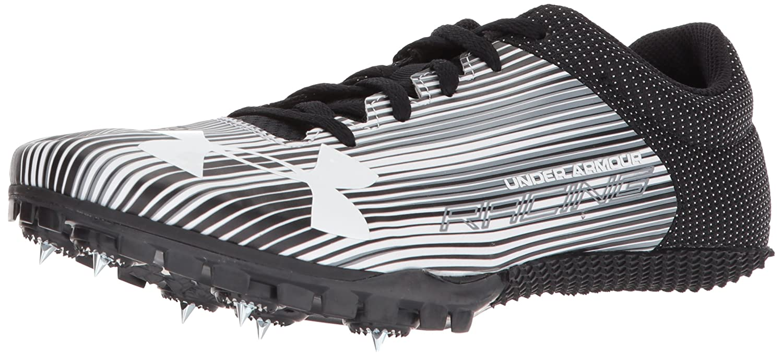 Under Armour Men's Kick Sprint Spike Sneaker B01GP03ISY 12.5 M US|White (100)/Black