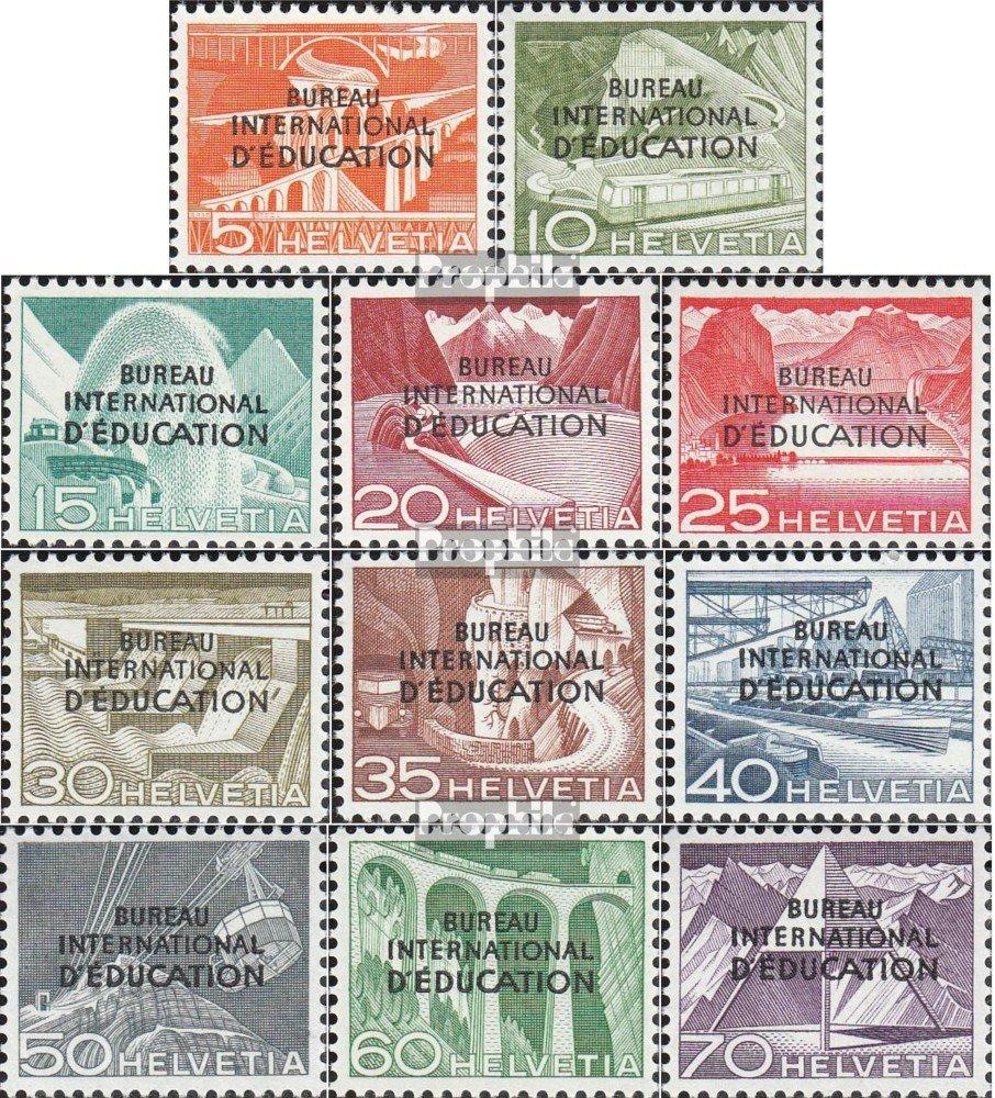 Prophila Collection Schweiz IBE29-IBE39 (kompl.Ausg.) 1950 Erziehung Landschaften (Briefmarken für Sammler)