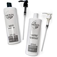 Nioxin Cleanser Shampoo, System 1-6 Liters, Hair Care for Fine/Normal and Color/Chemically-Treated Hair with Thinning…