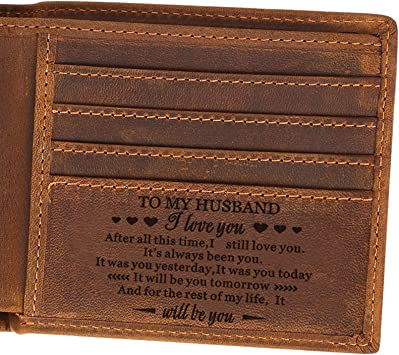Christmas gift for Dad Man Laser Engrave Wallet Personalised Aniversary Birthday