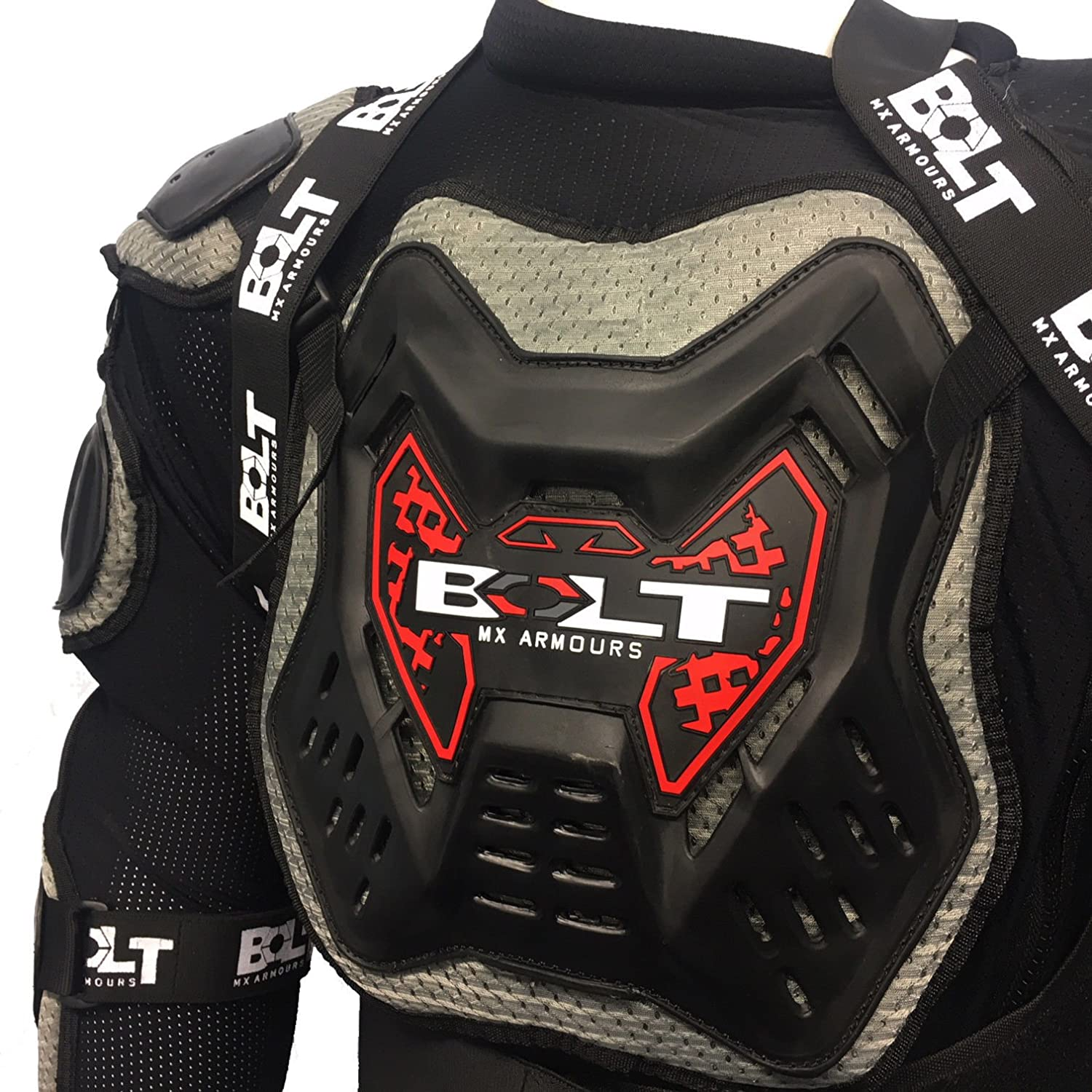 53-56 Inch 6XL /– BOLT CORE-2 ADULT MOTORBIKE MOTOCROSS BODY ARMOUR PROTECTION JACKET CE APPROVED GUARD