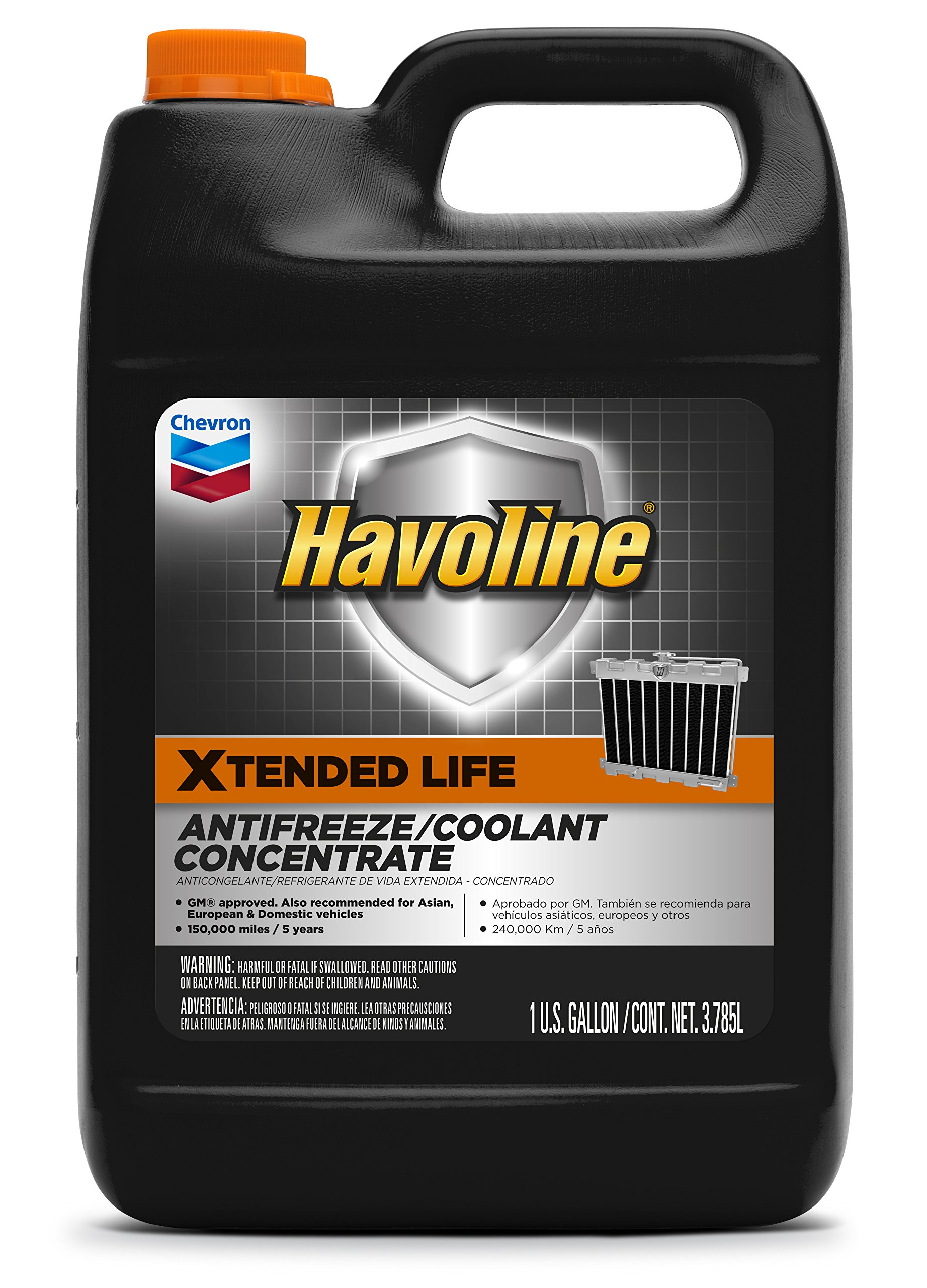 Havoline Xtended Life Antifreeze/Coolant - 1 Gallon (Pack of 6)