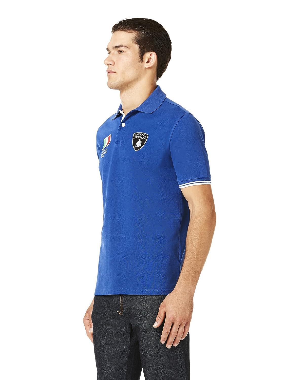 Automobili Lamborghini Officiel Homme Italian Flag Polo Shirt