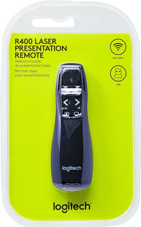 Logitech Logitech Wireless Presenter R400 Tapones para los oídos 5 Centimeters Negro (Black)