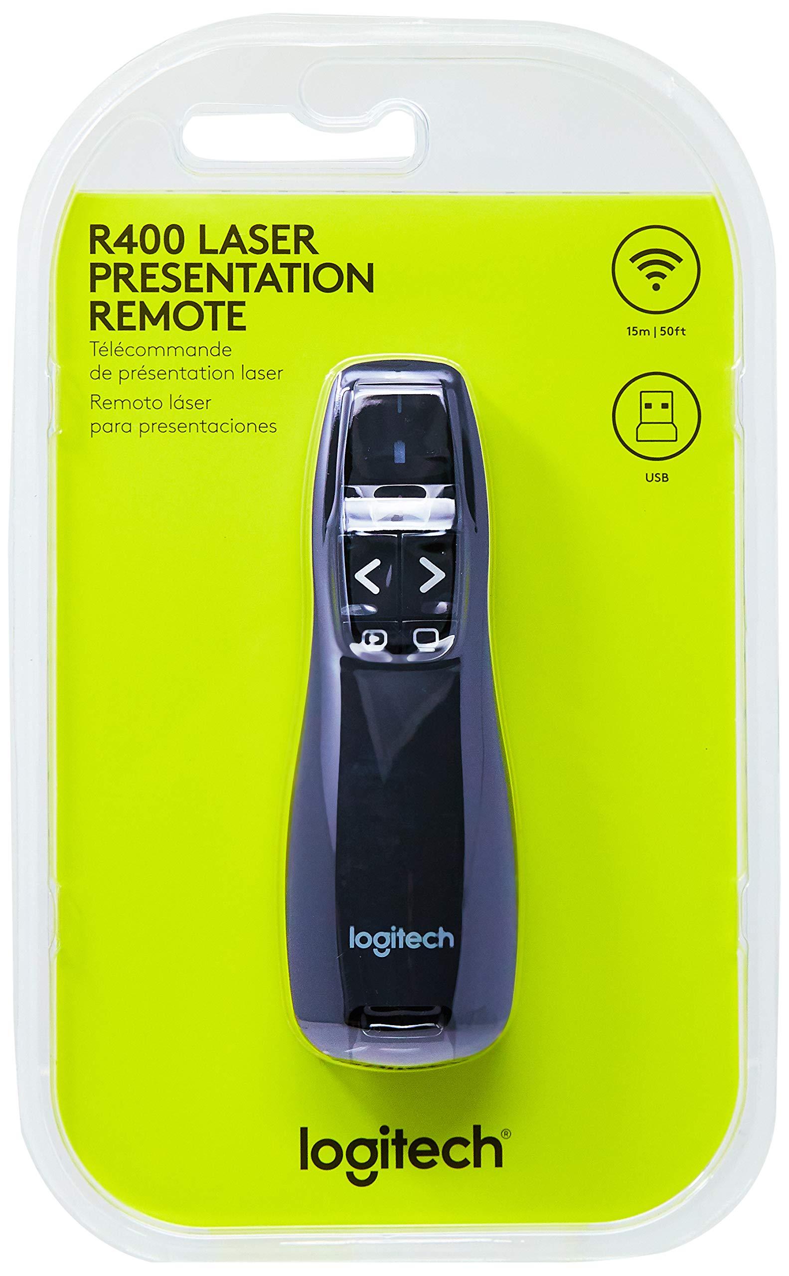 Logitech Wireless Presenter R400, Presentation Wireless Presenter with Laser Pointer by Logitech