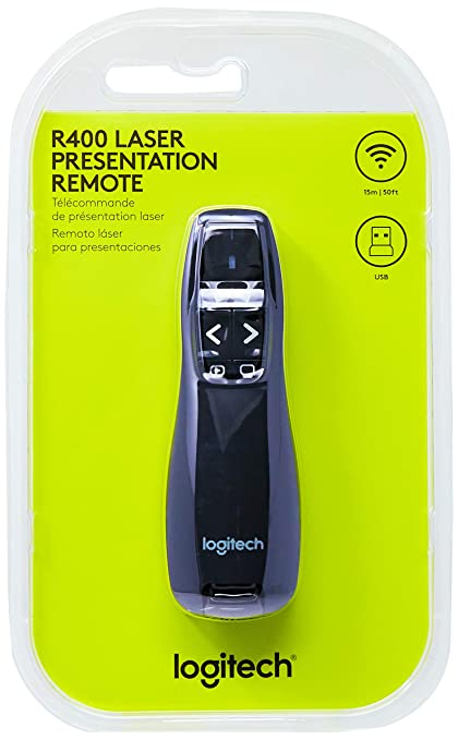 0b467cb0f86 Logitech Wireless Presenter R400, Presentation with Laser Pointer ...