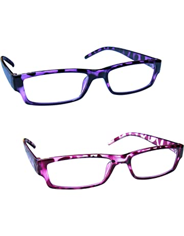 acc1a18a081 The Reading Glasses Company Purple   Pink Tortoiseshell Lightweight Readers  Value 2 Pack Mens Womens RR32